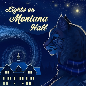 Illustration of Spirit and Montana Hall for Lights on Montana Hall
