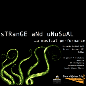 Strange and Unusual...a musical performance