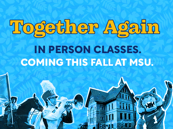Together again. In-person classes. This fall at MSU. |