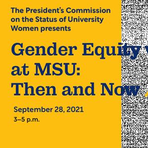 Gender Equity invite for September 28th