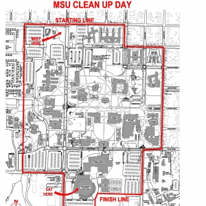 Campus Clean Up Day Map