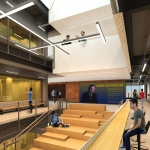 This artist's rendering depicts the interior of Norm Asbjornson Hall.