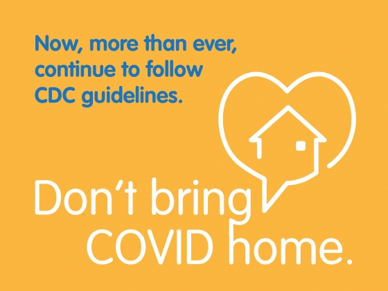 Now, more than ever, continue to follow CDC guidelines. Don't bring COVID home. | Alison Gauthier/MSU