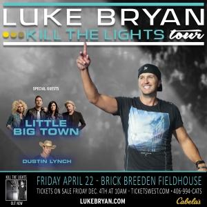 Luke Brian - Kill the Lights tour