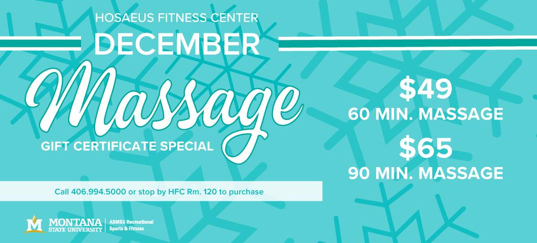 Dec Massage Special