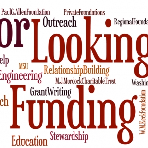 Word cloud for Foundation grant-writing