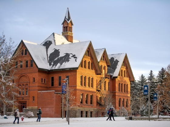 Montana Hall in winter | Kelly Gorham/MSU