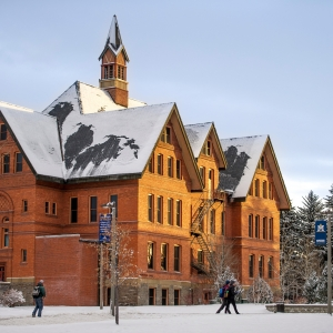 Montana Hall in winter