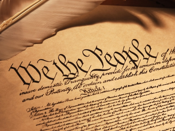 Image of the opening text of the U.S. Constitution