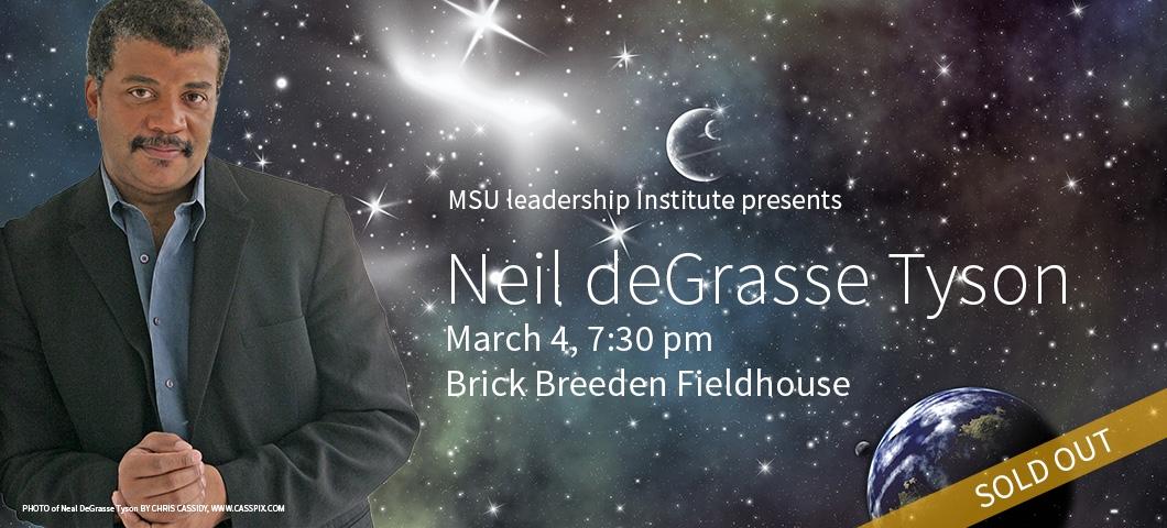 Neil deGrasse Tyson will speak at MSU on March 4 at 7:30 p.m. |