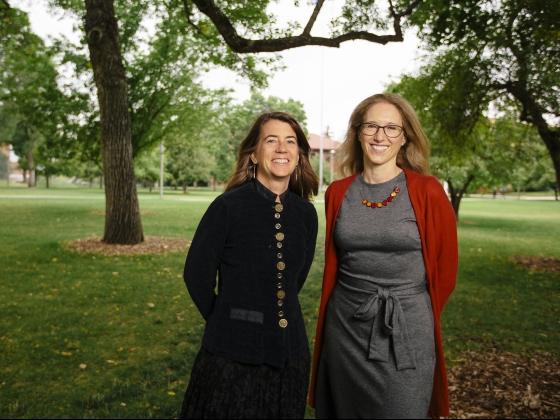Elizabeth Shanahan and Raina Plowright | MSU Photo by Adrian Sanchez-Gonzalez