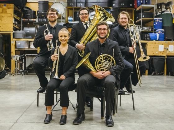 Bridger Brass Quintet   MSU Photo by Adrian Sanchez-Gonzalez