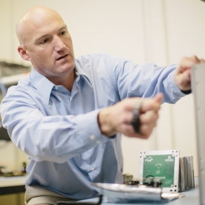 Brock LaMeres Works on CubeSat