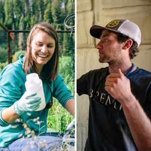 Shayla Woodhouse and Jack Wallis, masters student in MSU's Department of Civil Engineering