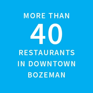 More than 40 restaurants in Downtown Bozeman |