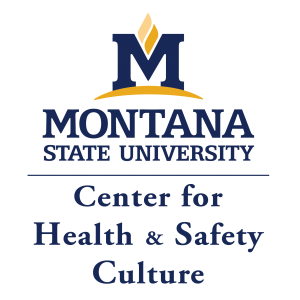 Image description: graphic of the Montana State University logo stacked on top of the Center for Health and Safety Culture logo