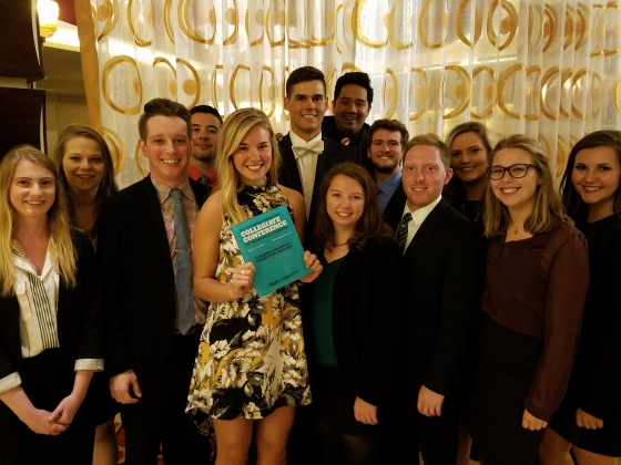 Members of the MSU student chapter of the American Marketing Association.  