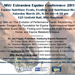 MSU Equine Conference 2015