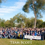 Team Scott is shown posing at an ALS Association's Walk to Defeat ALS. Courtesy photo by Jamie Haagenson.