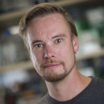 Paul van Erp,  a doctoral student in the MSU Department of Microbiology and Immunology, has received a 2017 Kopriva Graduate Student Fellowship from MSU's College of Letters and Science. MSU photo by Kelly Gorham.