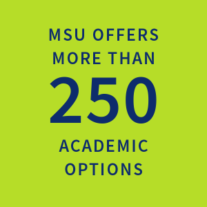 MSU offers more than 250 academic options |