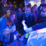 Cotton candy was among several popular treats in the refreshment tent during the Lights on Montana Hall celebration. MSU photo by Sepp Jannotta