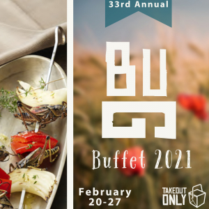 A poster for the 33rd Bug Buffet