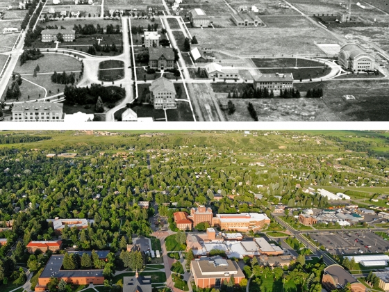 Campus then and now |