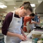 Montana State University WWAMI students participate in a Culinary Medicine Workshop in Bozeman, Montana. Thursday, September 14, 2017. MSU Photo by Colter Peterson