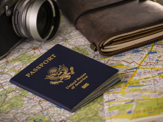Photo of passport and travel paraphernalia.  | MSU photo by Kelly Gorham