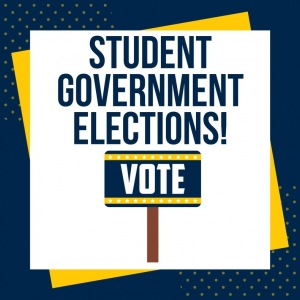 Graphic: Student Government Elections Sign