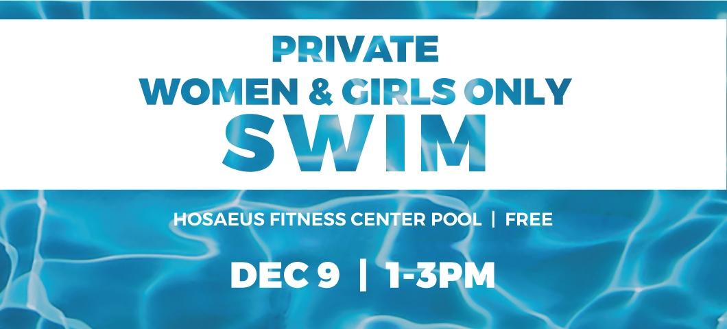 Private women's swim