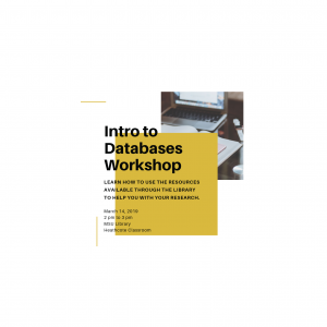 Image of intro to databases workshop