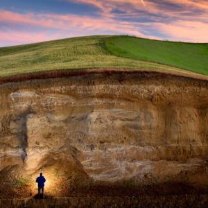 Soil layers of the Palouse region of eastern Washington