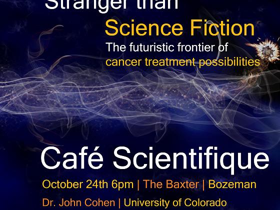 John Cohen Cafe Scientifique Banner