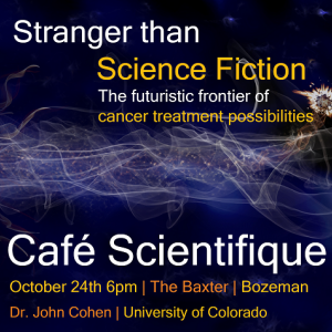 John Cohen Cafe Scientifique Banner