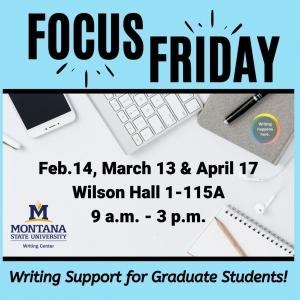 MSU Writing Center Focus Friday