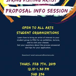 Spring Visiting Artist Proposal Info Session