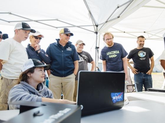 MSU Eclipse Ballooning Project team in Rexburg, Idaho | MSU Photo by Adrian Sanchez-Gonzalez