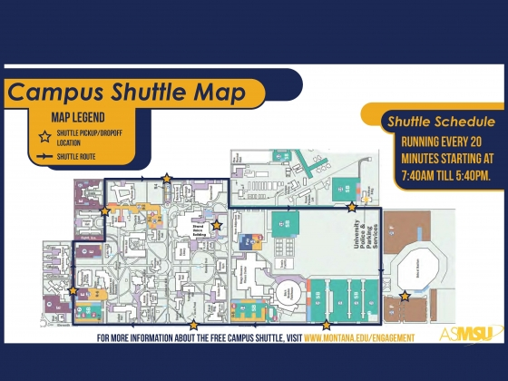 A map of the new Montana State campus shuttle route | ASMSU
