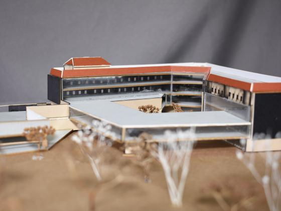 small momdel of the energy-efficient hospital designed by the team |