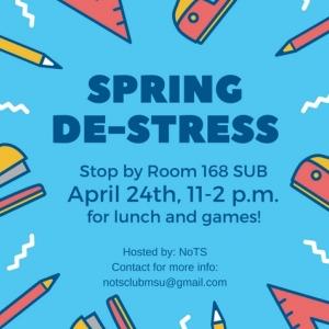 Spring De-stress event