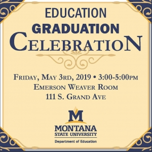 Dept. of Education Spring Graduation Celebration