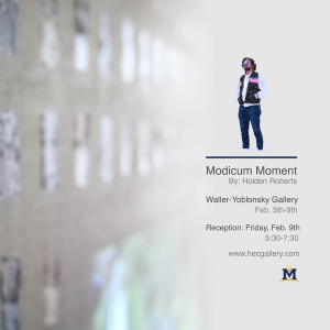 The Modicum Moment at the Waller-Yoblonsky Gallery.  Reception this Friday, Feb 9th at 5:30 pm