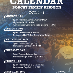 Homecoming Calendar Remove October 10