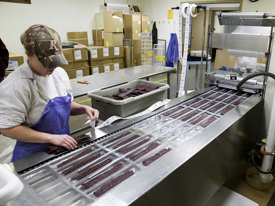Jerky is produced in the High Country facility in Lincoln, Mont. | MSU photo by Kelly Gorham