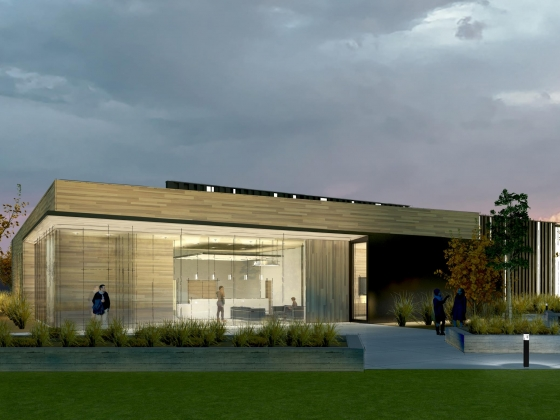 An architectural rendering of the northeast entrance of MSU's Applied Research Lab.  | Image courtesy of A&E Architects