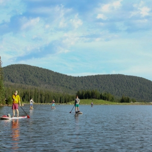 Stand Up Paddle boarding in Hyalite