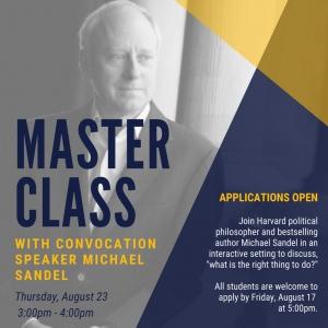 Sandel Master Class Applications Open