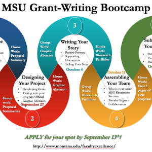 Graphic syllabus for Grant-Writing Bootcamp